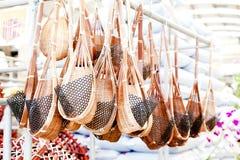 L'uso fatto di bambù immagine stock