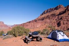 l'Utah campant Photographie stock libre de droits