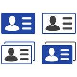L'utilisateur carde les icônes plates Photo stock