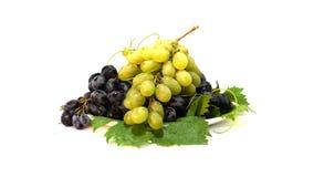 L'uva in bianco e nero gira intorno al cerchio video d archivio
