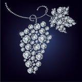 L'uva ha composto molto diamante royalty illustrazione gratis