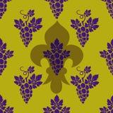 L'uva si ramifica modello senza cuciture illustrazione di stock