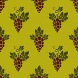 L'uva si ramifica modello senza cuciture royalty illustrazione gratis