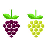 L'uva vector l'insieme Immagine Stock Libera da Diritti