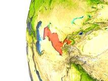 L'Uzbekistan nel rosso royalty illustrazione gratis