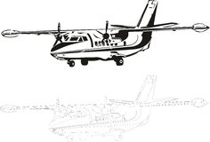 L-410. Vector illustration of an aircraft Stock Images