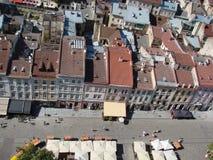 L ` viv ukraine 08 07 2015 Panorama av staden av Lviv Royaltyfri Bild