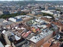 L ` viv l'ukraine 08 07 2015 Panorama de la ville de Lviv Photos stock