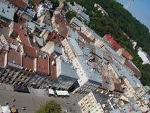 L ` viv ukraine 08 07 2015 Panorama der Stadt von Lemberg Lizenzfreie Stockfotografie
