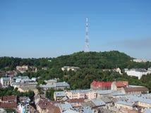 L ` viv ukraine 08 07 2015 Panorama der Stadt von Lemberg Lizenzfreie Stockbilder