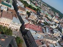 L ` viv ukraine 08 07 2015 Panorama der Stadt von Lemberg Stockfotos