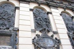 L ` viv ukraine Panorama van oude gebouwen van het historische deel van de stad stock foto