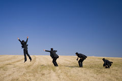 L'évolution de saut Photographie stock