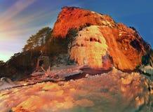 L'Wuchang-Unione Sovietica - cascata in Crimea Immagini Stock