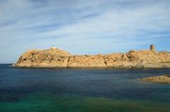 L& x27;Ile-Rousse rocky shore Royalty Free Stock Image