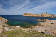 L& x27;Ile-Rousse rocky shore Royalty Free Stock Photography