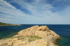 L& x27;Ile-Rousse rocky shore Royalty Free Stock Photo