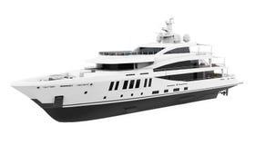 L'yacht di piacere bianco ha isolato royalty illustrazione gratis