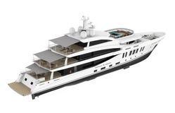L'yacht di piacere bianco ha isolato illustrazione vettoriale