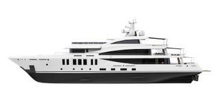 L'yacht di piacere bianco ha isolato illustrazione di stock