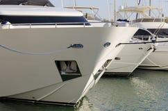 L'yacht si è messo in bacino Immagini Stock Libere da Diritti