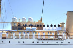 L'yacht sta aspettando la regina della Danimarca Fotografie Stock