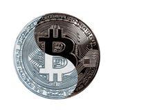 L'yin yang del bitcoin della moneta di concetto fotografia stock libera da diritti