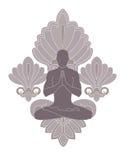 L'yoga e prega Fotografie Stock