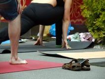 L'yoga significa l'unità Contatti l'anima Fotografie Stock Libere da Diritti