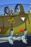 L-39ZA Albatros Flugzeugcockpit Lizenzfreie Stockbilder