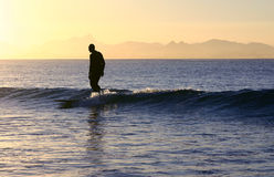 L5assiger Surfer Lizenzfreie Stockfotografie