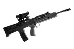 L85 british assault rifle 3. This is a perfect plastic replica (airsoft) of a popular assault rifle Royalty Free Stock Photos