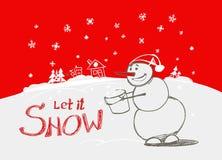 Laßt ihm schneien! Stockbild