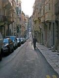 La瓦莱塔,马耳他街道  免版税库存图片