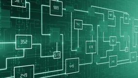 LAÇO abstrato do fundo do circuito eletrônico da tecnologia video estoque