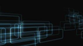 Laço animado das caixas futuristas que passam pela câmera ilustração stock