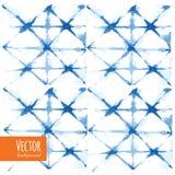 Laço azul abstrato fundos tingidos da aquarela Fotos de Stock