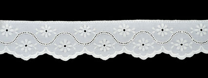 Laço branco Imagem de Stock Royalty Free
