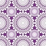 laço branco no fundo violeta, sem emenda Foto de Stock Royalty Free