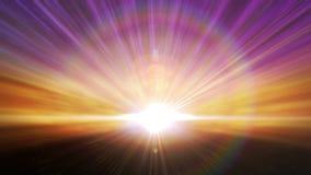 Laço cósmico da explosão da luz do horizonte ilustração do vetor