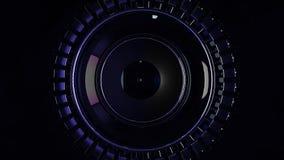 Laço circular abstrato do fundo do aço e da luz para o gráfico do movimento Rotação da animação do aço radial Sumário imagem de stock
