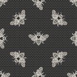 Laço com abelhas ilustração royalty free