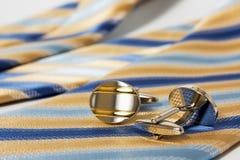 Laço, correia e botão de punho Imagem de Stock Royalty Free