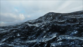 Laço 3D do mar áspero ilustração do vetor