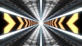 Laço da animação do fundo do túnel da tecnologia filme