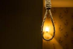 Laço da corda do suicídio imagem de stock