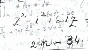 Laço da equação das matemáticas com resíduo metálico alfa vídeos de arquivo