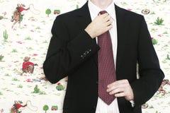 Laço da fixação do homem de negócio Fotografia de Stock