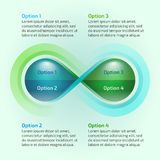 Laço da infinidade da natureza da gota da água de Eco infographic Imagens de Stock