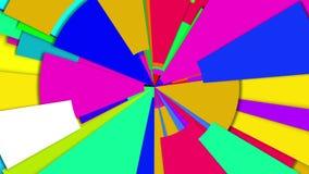 Laço da roda de cor da irradiacão abstrata multi ilustração royalty free